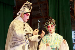 Ópera del Cantonese del festival 2011 del bollo de Cheung Chau Fotos de archivo