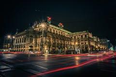 Ópera del estado de Austria en Viena Imagen de archivo libre de regalías
