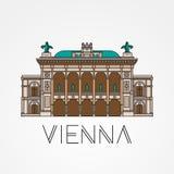 Ópera del estado de Viena - el símbolo de Austria ilustración del vector