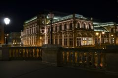 Ópera em Viena fotos de stock royalty free