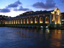 Ópera en el agua, Ginebra, Suiza Foto de archivo libre de regalías