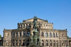 A ópera famosa de Semper em Dresden Fotos de Stock Royalty Free