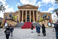 Ópera House Teatro Massimo Vittorio Emanuele de Teatro Fotografía de archivo