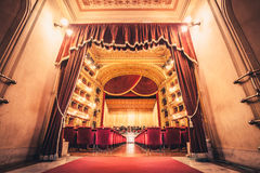 Ópera House Teatro Massimo Vittorio Emanuele de Teatro Fotografía de archivo libre de regalías