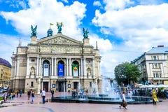 Ópera nacional 02 de Lviv fotos de archivo