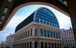 Ópera Nouvel en Lyon, Francia Imágenes de archivo libres de regalías