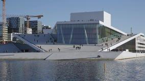 Ópera Oslo Noruega almacen de metraje de vídeo