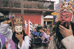 Ópera popular en China Foto de archivo