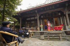 Ópera tradicional china imagen de archivo