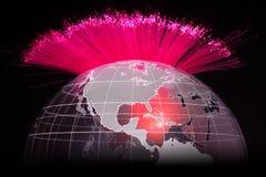 Óptica de fibras Imagen de archivo libre de regalías