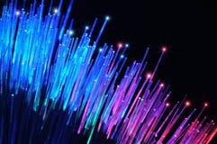 Óptica de fibras Foto de archivo