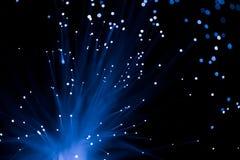 Óptico de fibra azul Fotografía de archivo