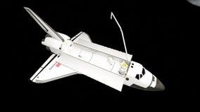 Órbita del descubrimiento del transbordador espacial del ` s de la NASA Foto de archivo libre de regalías