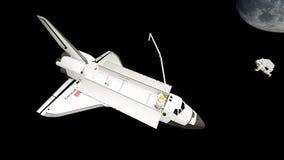 Órbita del descubrimiento del transbordador espacial del ` s de la NASA Fotos de archivo