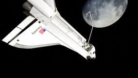 Órbita del descubrimiento del transbordador espacial del ` s de la NASA Fotografía de archivo