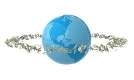 Órbita do dinheiro Imagem de Stock Royalty Free