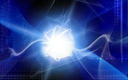 Órbita en luz ilustración del vector