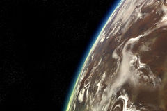 Órbita estrangeira do planeta Fotos de Stock Royalty Free