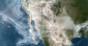 Órbita sobre a oeste de America do Norte EUA 4K vídeos de arquivo