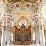 Órgão barroco da igreja fotos de stock