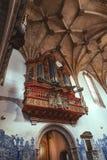 Órgão barroco em Santa Cruz Foto de Stock