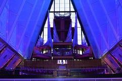 Órgão da capela da academia de força aérea Fotografia de Stock