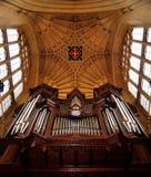Órgão da catedral Imagem de Stock