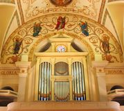 Órgão da catedral fotos de stock