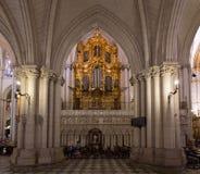 Órgão da catedral de Toledo, Espanha Fotografia de Stock