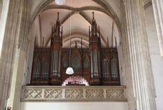 Órgão da igreja - St Jakub em Kutna Hora Fotos de Stock