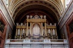 Órgão de tubulação, basílica de Esztergom, Hungria Fotografia de Stock Royalty Free