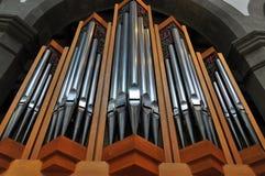 Órgão de tubulação da igreja foto de stock