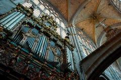 Órgão de tubulação na catedral de Avila Fotografia de Stock Royalty Free