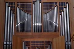 Órgão de tubulações da igreja Imagem de Stock Royalty Free