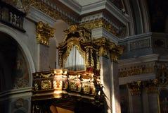 Órgão decorado fotografia de stock
