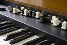 Órgão eletrônico da barra de acoplamento fotos de stock