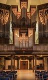 Órgão monumental da igreja de Greyfriars, Edimburgo, Escócia, Reino Unido imagem de stock