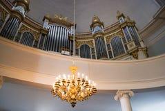 Órgão na catedral de Helsínquia. Finlandia Fotografia de Stock Royalty Free