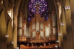 Órgão na catedral de Patrick fotografia de stock