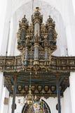 Órgão na catedral de St Mary em Gdansk foto de stock