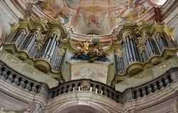 Órgão na igreja Fotografia de Stock Royalty Free