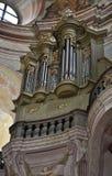 Órgão na igreja, Krtiny, República Checa, Europa Fotos de Stock