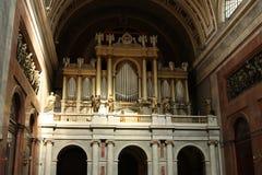 Órgãos bonitos na basílica de Saint Wojciech em Esztergom Fotografia de Stock Royalty Free