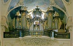 Órgano barroco Imagenes de archivo