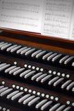 Órgano de la iglesia imagen de archivo