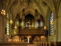 ÓRGANO de la IGLESIA (catedral) Foto de archivo