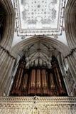 Órgano de la iglesia de monasterio de York Fotos de archivo