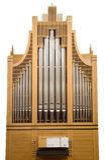 Órgano de madera de la iglesia aislado Fotografía de archivo