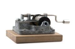 Órgano de mano en el fondo blanco imagen de archivo libre de regalías