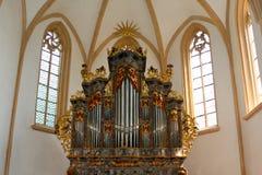 Órgano de tubo de la iglesia Foto de archivo libre de regalías